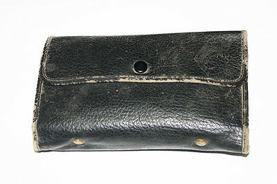 Vintage Leather Fly Wallet Loaded with Flies Fly Fishing