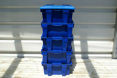 Storage containers, workshop home - many uses. Good quality, Stackable+Lids 10