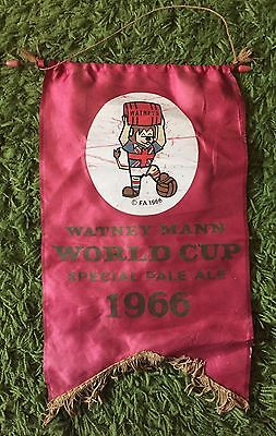 Original 1966 World Cup Willie Watney Mann Pennant