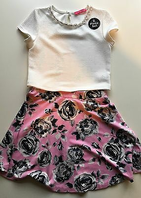 �� Girls Young Dimensions Outfit, Top (Nwot) & Skirt (Vgc), Age 6-7 Years ��