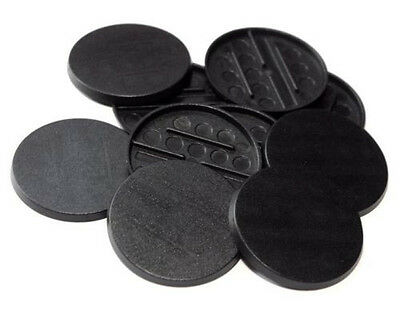 8 (Eight) 40mm Round Bases for Wargaming and Roleplaying NEW