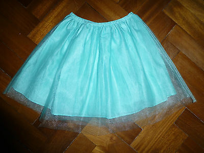 Mini Boden 4-5 years turquoise skirt with netting