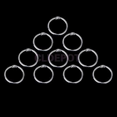 10pcs 15mm Round Hinged Rings for Scrapbooks Albums Notebook Making Craft DIY