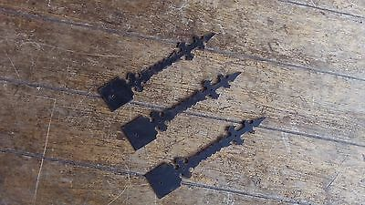 3 French Vintage Metal Decorative Bars Embellishments - Gates Windows Shutters f