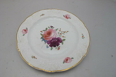 Antique Crown Derby Cabinet Plate Handpainted Floral Spray