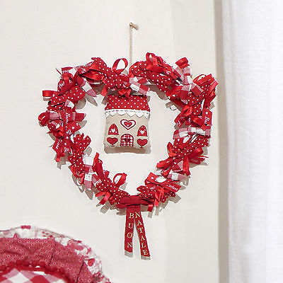 Ghirlanda Cuore Country chic Angelica Home & Country Deco Home All Red