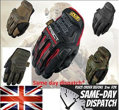 Fox KTM TLD Mechanix Tactical M-PACT Gloves Combat Military Airsoft Free P&P