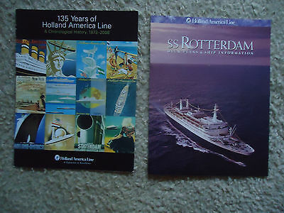 Holland America Line - ss Rotterdam / 135 Years of HAL - (2) Brochures
