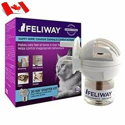 Feliway Starter Kit Diffuser Plug-In w/30 Day Refill 48ml Cat Calming & Comfort