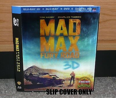SLIP COVER (SLEEVE ONLY) MAD MAX FURY ROAD - 3D Bluray Lenticular NO DISCS