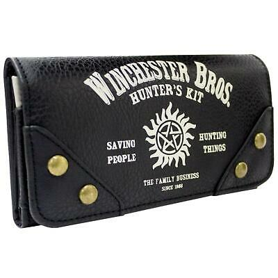 New Official Warner Supernatural Hunters Kit Black Coin & Card Tri-Fold Purse