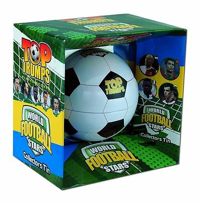 World Football Stars Collectors Tin Top Trumps Card Game