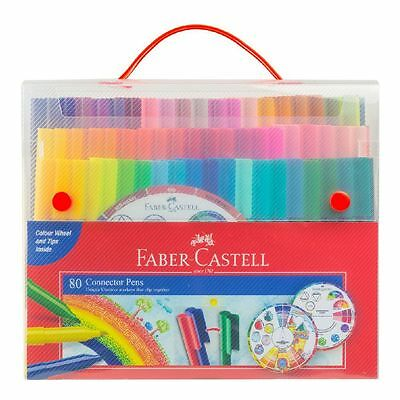 Faber-Castell Connector Pens Wallet with Colour Wheel 80 Pack