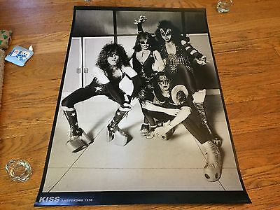 """Kiss """"Amsterdam 1976"""" Black & White Vintage Pic_Import Poster_Thick Quality"""