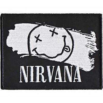 Nirvana Iron-On Patch Smiley Face Paint Logo