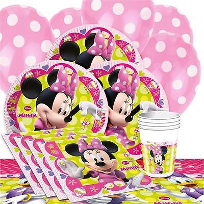 Minnie Mouse Girls Party Supplies Pink Tableware Plates Napkins Cups Decorations
