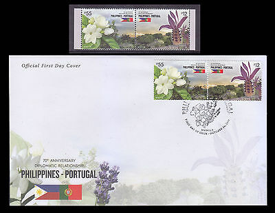 Stamps 2016 MNH Philippine-Portugal Diplomatic Relations complete set + FDC