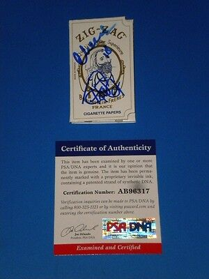CHEECH AND CHONG SIGNED ZIG-ZAG ROLLING PAPERS psa/dna UP IN SMOKE ,NICE DREAMS