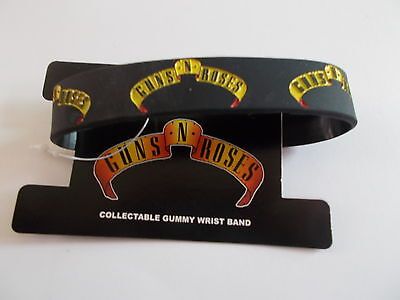 Guns N Roses Rubber Style Logo Wrist Band 'standard Band