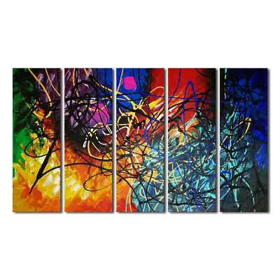 Large Abstract Hand Paint Canvas Oil Painting Home Decor Wall Art Picture Framed