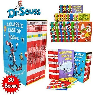 Dr Seuss Classic 20 Books Gift Set (Kids Wonderful World Read at Home Col... New
