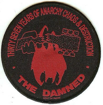 The Damned Sew On Patch Thirty Seven Years Of Anarchy