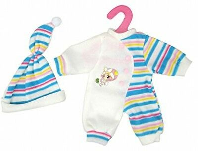Highmall-uk 11.5 Inches High Simulation Baby Doll's Clothes Stripes Rompers Hat