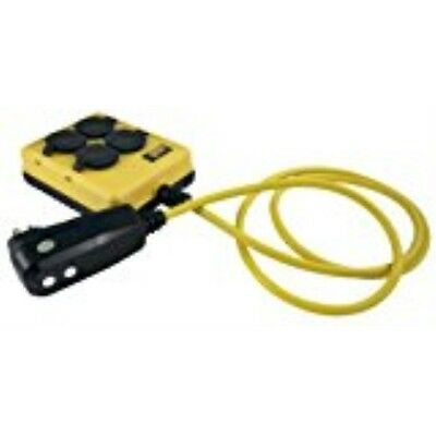 Yellow Jacket 2516 14/3 GFCI Protected 4-Outlet Power-Box with 6-Foot Cord Yello