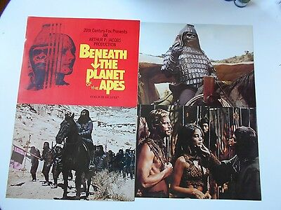 """Beneath the Planet of the Apes rare 11"""" x 14"""" still set lobby cards horror"""