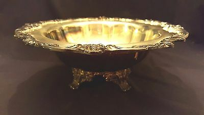 """Vintage Reed & Barton 1694 King Francis Silverplate Serving Bowl 12"""" Footed"""