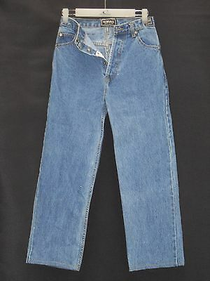 """1980's Vintage """"Versace"""" High Waisted Denim Jeans with Button Fly."""