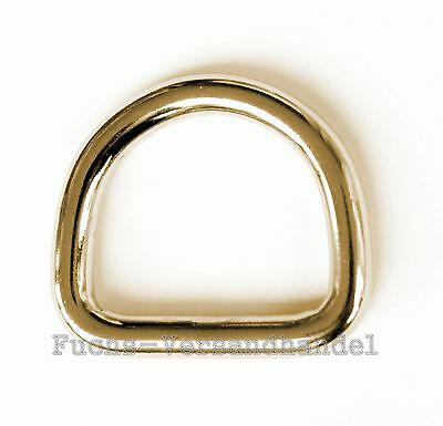 D-Rings BRASS 16,20,25,32,39mm Half round ring D Ring Metal ring mm half round