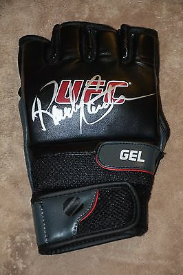 UFC MMA STRIKEFORCE RANDY COUTURE SIGNED AUTOGRAPH GLOVE COA exact proof