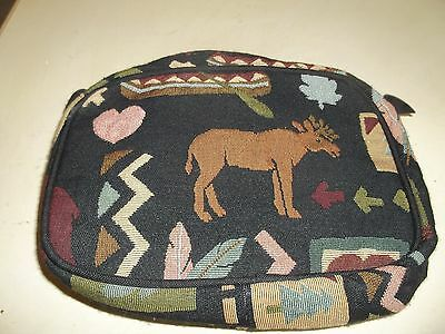 Tapestry with Zipper Closure Bears Moose Pine Trees Bible Book Cover