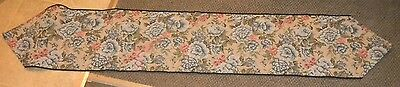 Floral Table Runner Blue and Pink Flowers Linen 72 x 13
