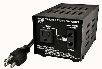 VCT VT-500J-Japanese Step Up/Down Voltage Transformer Converts Japan 100V... New