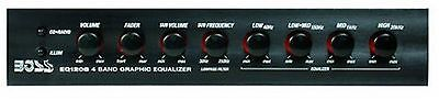 Boss EQ1208 4 Band Pre-Amp Equalizer with Subwoofer Output Master Volume ... New
