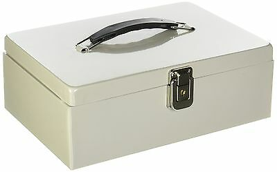 Buddy Products Metal Cash Box with HandleSteel 7.75 x 4 x 11-Inch Platinu... New
