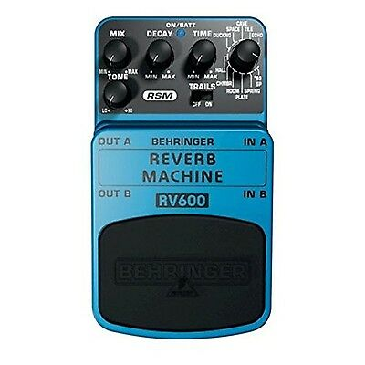 Behringer RV600 Reverb Machine Ultimate Reverb Modeling Effects Pedal New