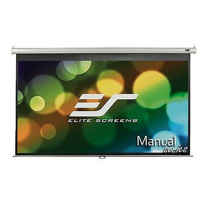 Elite Screens Manual 100-inch 16:9 Pull Down Projection Manual Projector ... New
