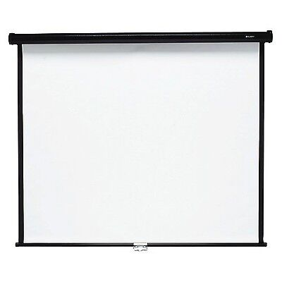 Quartet Wall and Ceiling Projection Screen 84 x 84 Inches (684S) New