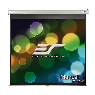 Elite Screens Manual 119-inch 1:1 Pull Down Projection Manual Projector S... New