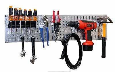 WALMP Wall Control 30-WRR-100GVB Galvanized Steel Pegboard Starter Kit New