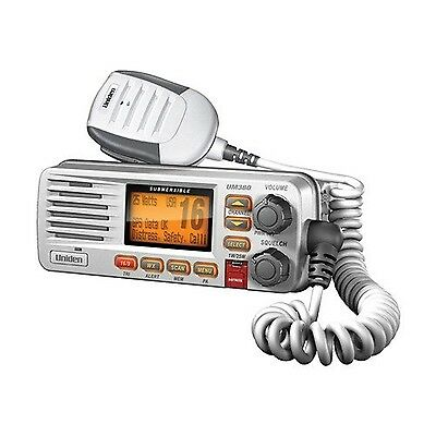 Uniden UM380 Class D Full - Feature Fixed Mount VHF Marine Radio White New