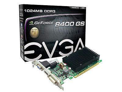 EVGA2 GeForce 8400 GS Passive 1024 MB DDR3 PCI Express 2.0 Graphics Card ... New