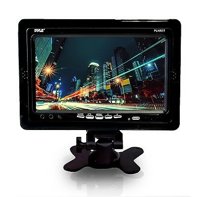 Pyle PLHR77 7-Inch Wide Screen TFT LCD Video Monitor with Headrest Shroud... New