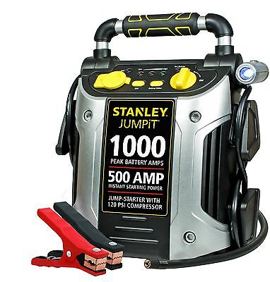 Stanley J5C09 500-Amp Jump Starter with Built-In Air Compressor New