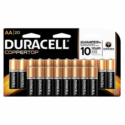 Duracell CopperTop AA Alkaline Batteries 20 Count New