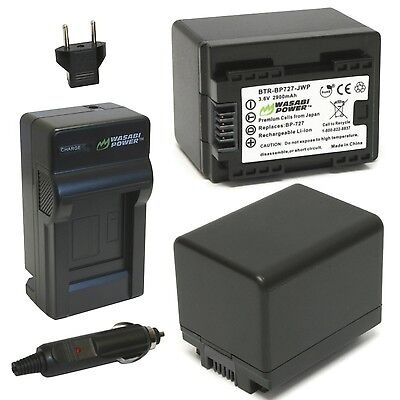 Wasabi Power Battery (2-Pack) and Charger for Canon BP-727 CG-700 and Can... New