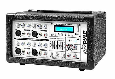 PYLE-PRO PMX402M 400-Watt 4-Channel Powered Mixer with MP3 USB Input New